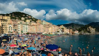The seafront and the beach, Camogli, Italy