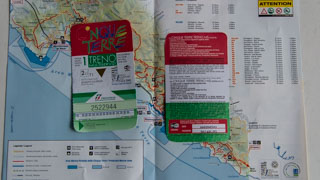 The Cinque Terre Card with train, Italy