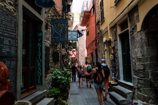 The main street of the village, Corniglia, Cinque Terre, Italy