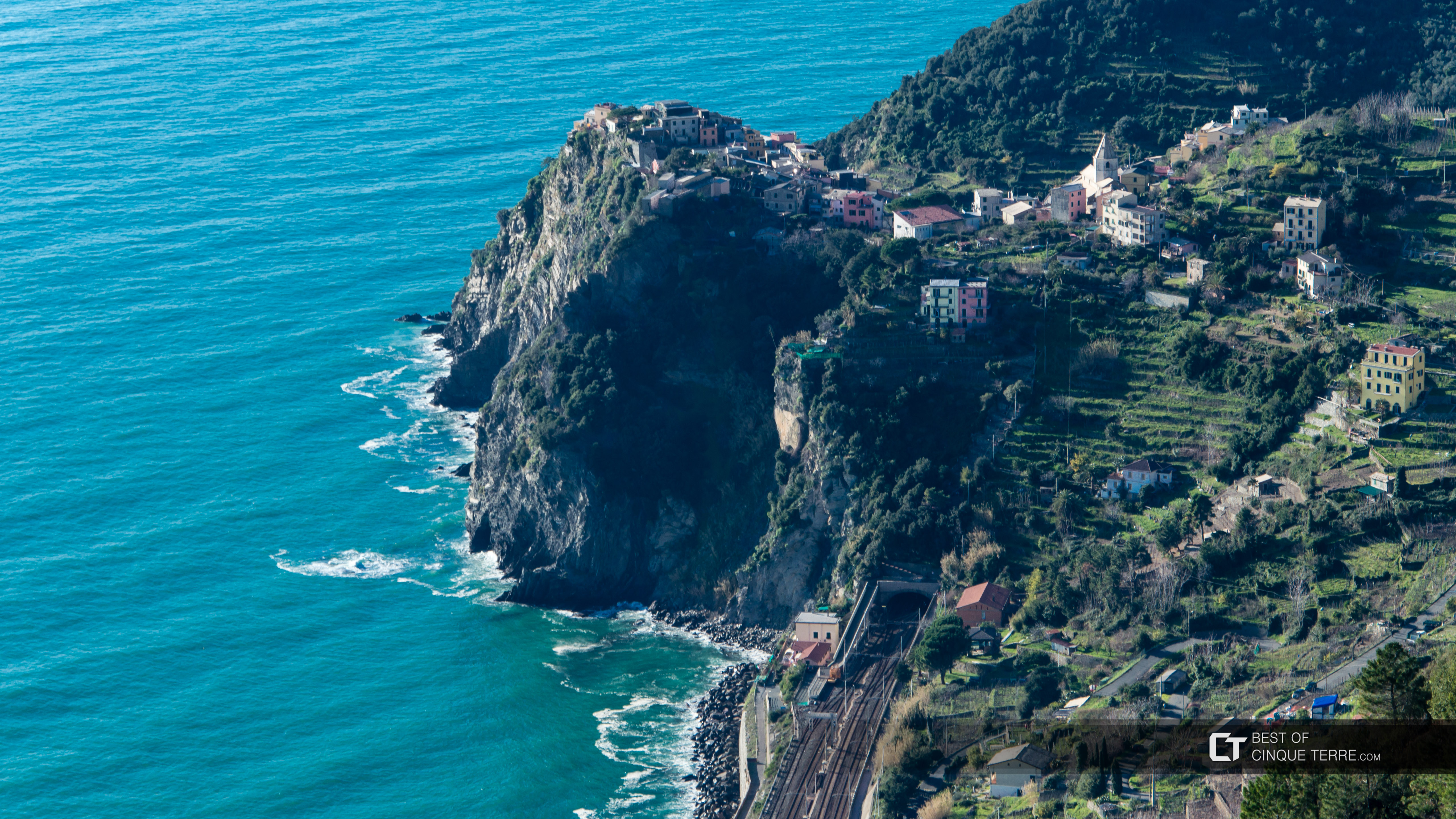 View from the trail Corniglia - Volastra - Manarola, Cinque Terre, Italy