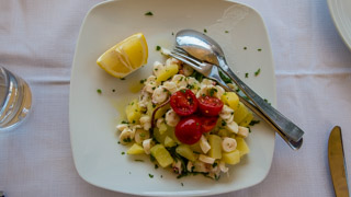 Octopus and Potatoes Salad Ligurian Style, Local food, Cinque Terre, Italy