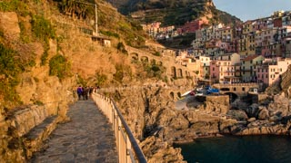 The footpath along the seaside, Manarola, Cinque Terre, Italy
