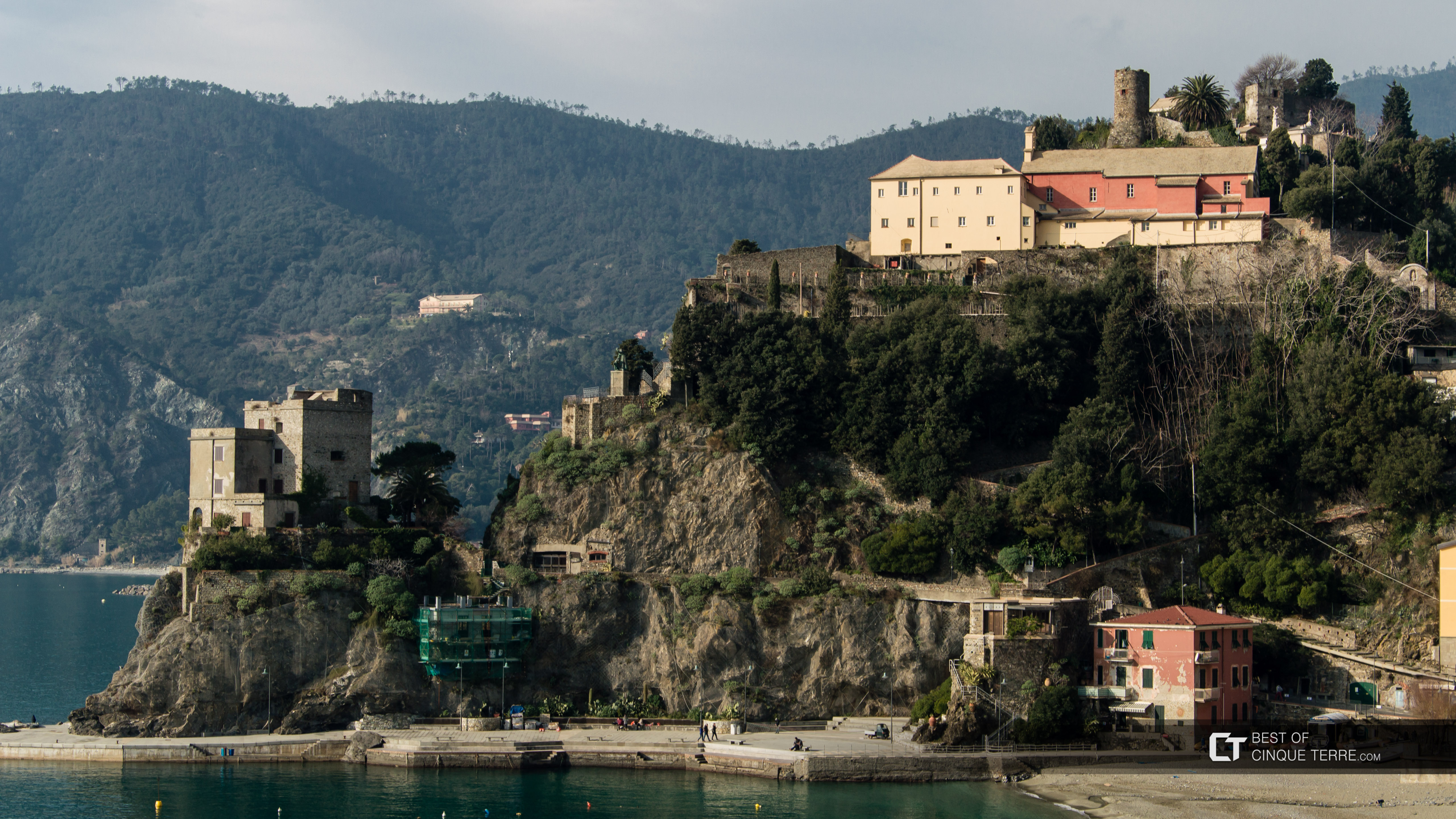 Capuchin monastery and the Aurora tower, Monterosso al Mare, Cinque Terre, Italy