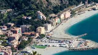 Parking area of Fegina, view from Cape Mesco, Monterosso al Mare, Cinque Terre, Italy