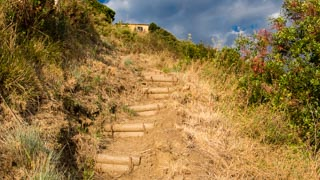 Ascent from Vernazza to San Bernardino, Trails, Cinque Terre, Italy