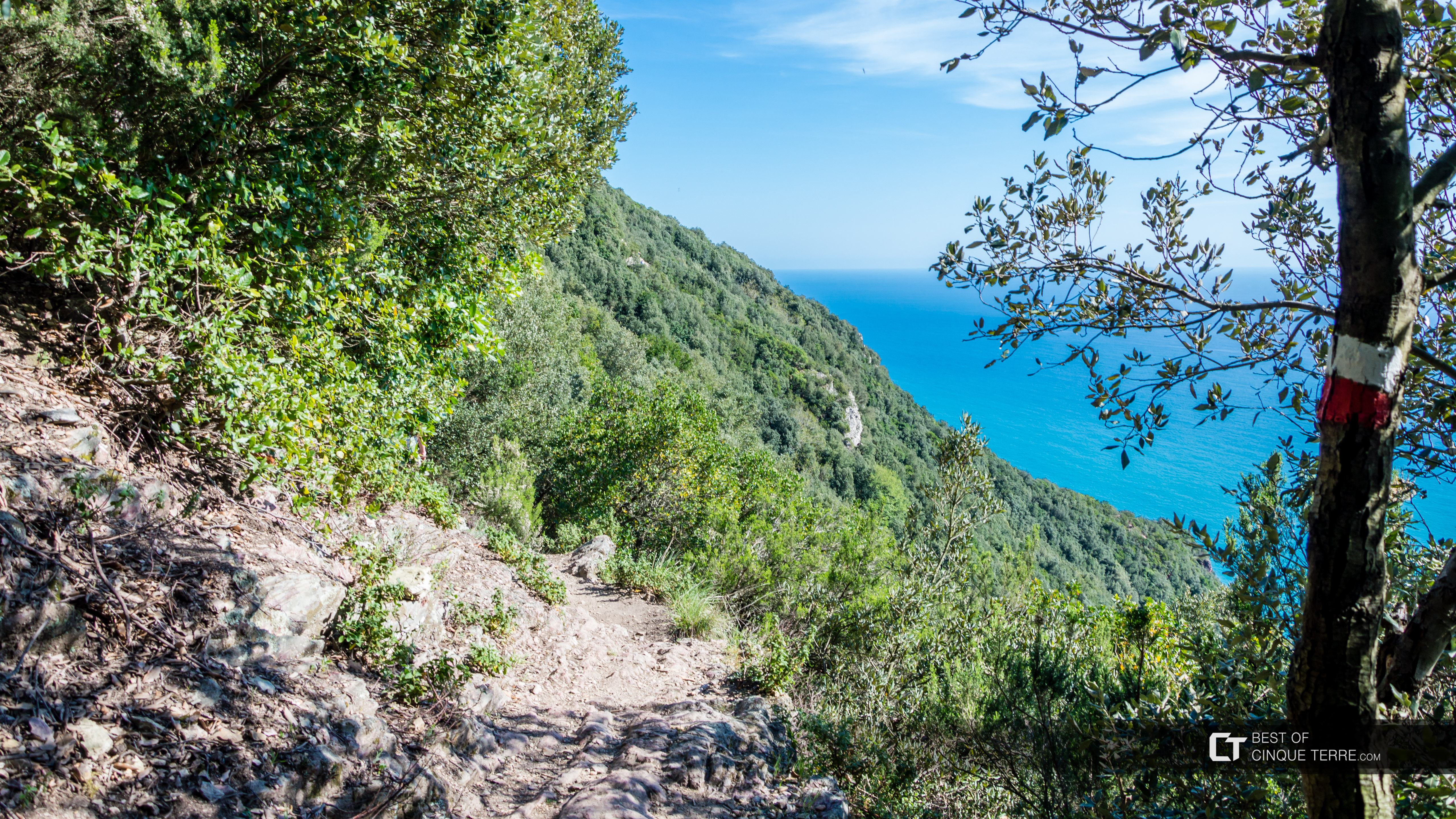 The path from Riomaggiore to Portovenere, Trails, Cinque Terre, Italy