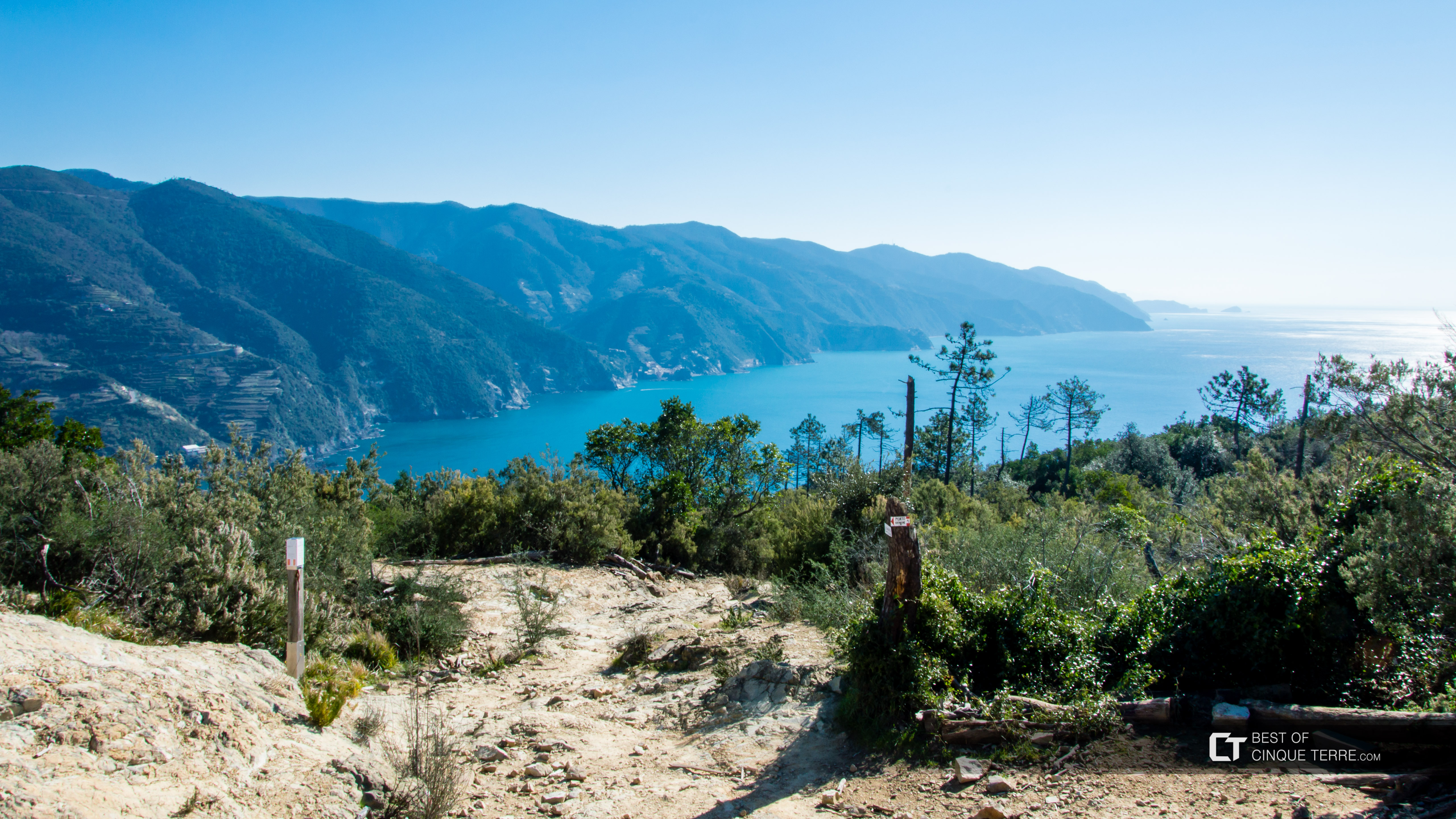 The trail from Monterosso to Levanto, Trails, Cinque Terre, Italy