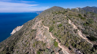 The trail from Monterosso to Levanto (aerial view), Trails, Cinque Terre, Italy