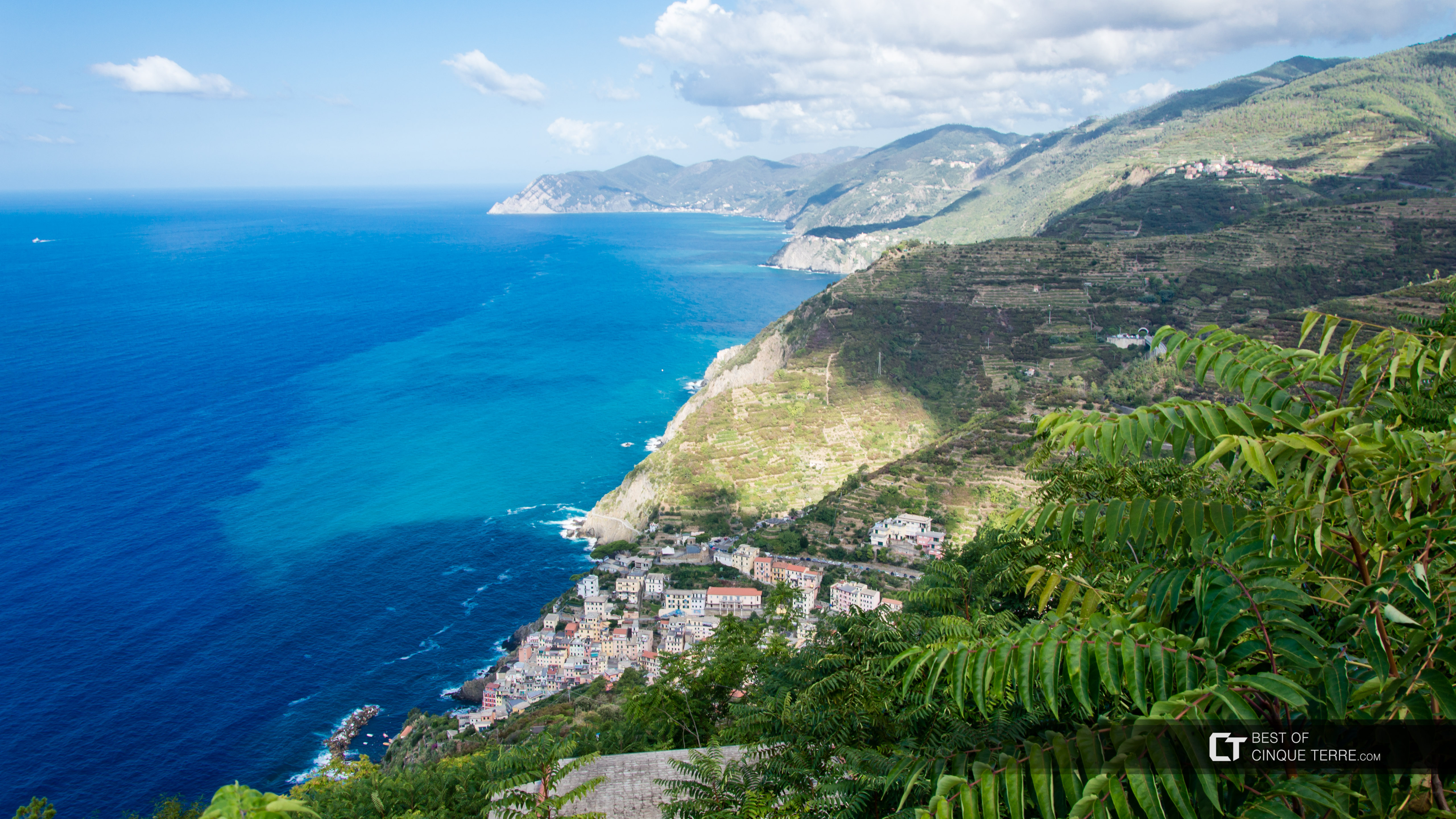 View of the Riviera from the Sanctuary of Montenero, Trails, Cinque Terre, Italy