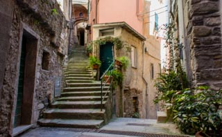 Beautiful little streets, Vernazza, Cinque Terre, Italy