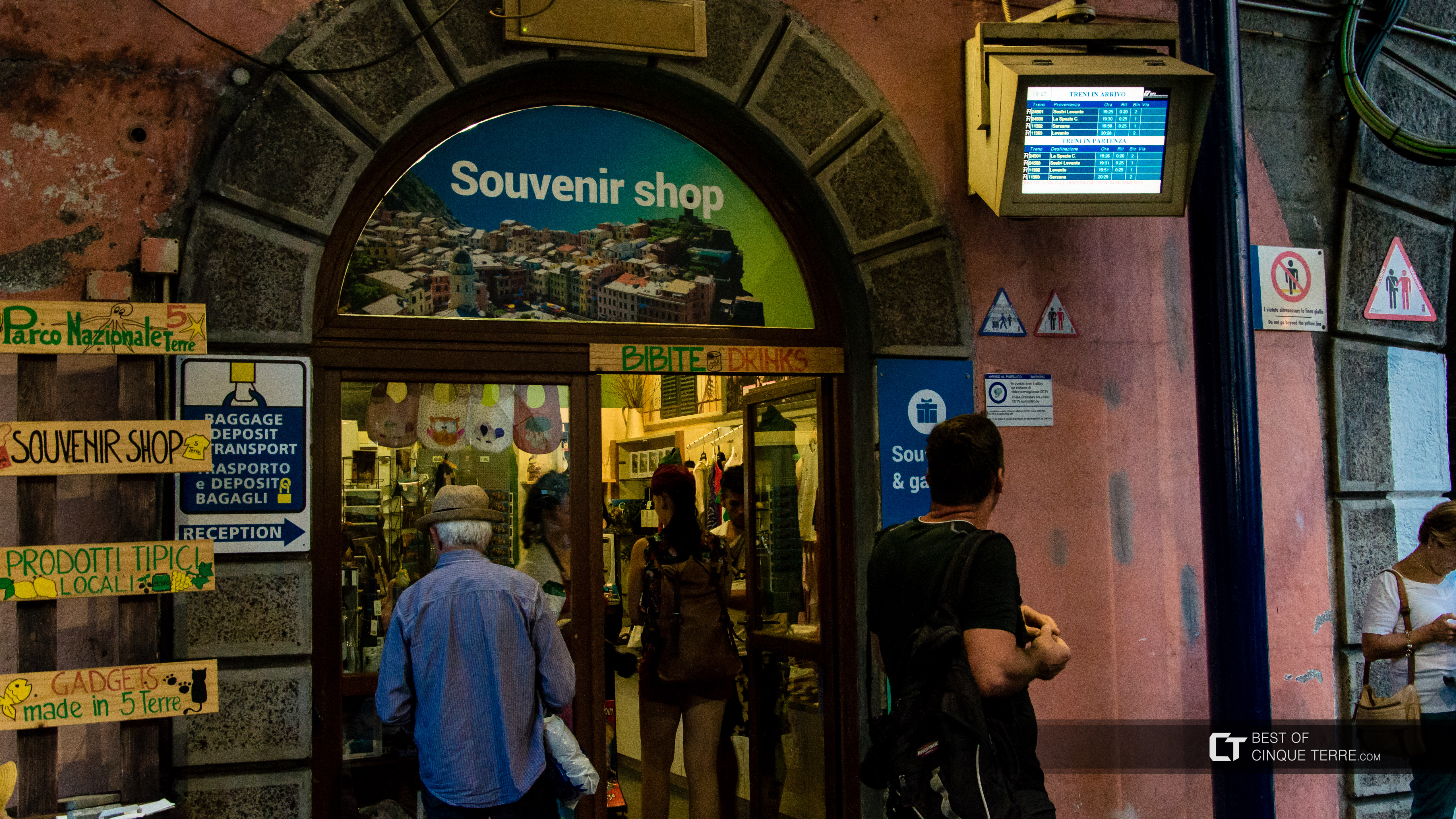 The tourist office at the train station, Vernazza, Cinque Terre, Italy