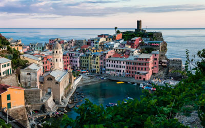 View of the bay, Vernazza, Cinque Terre, Italy