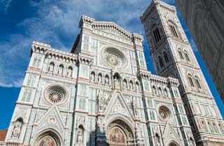 Cathedral of Santa Maria del Fiore and Giotto's Bell tower, Florence, Italy
