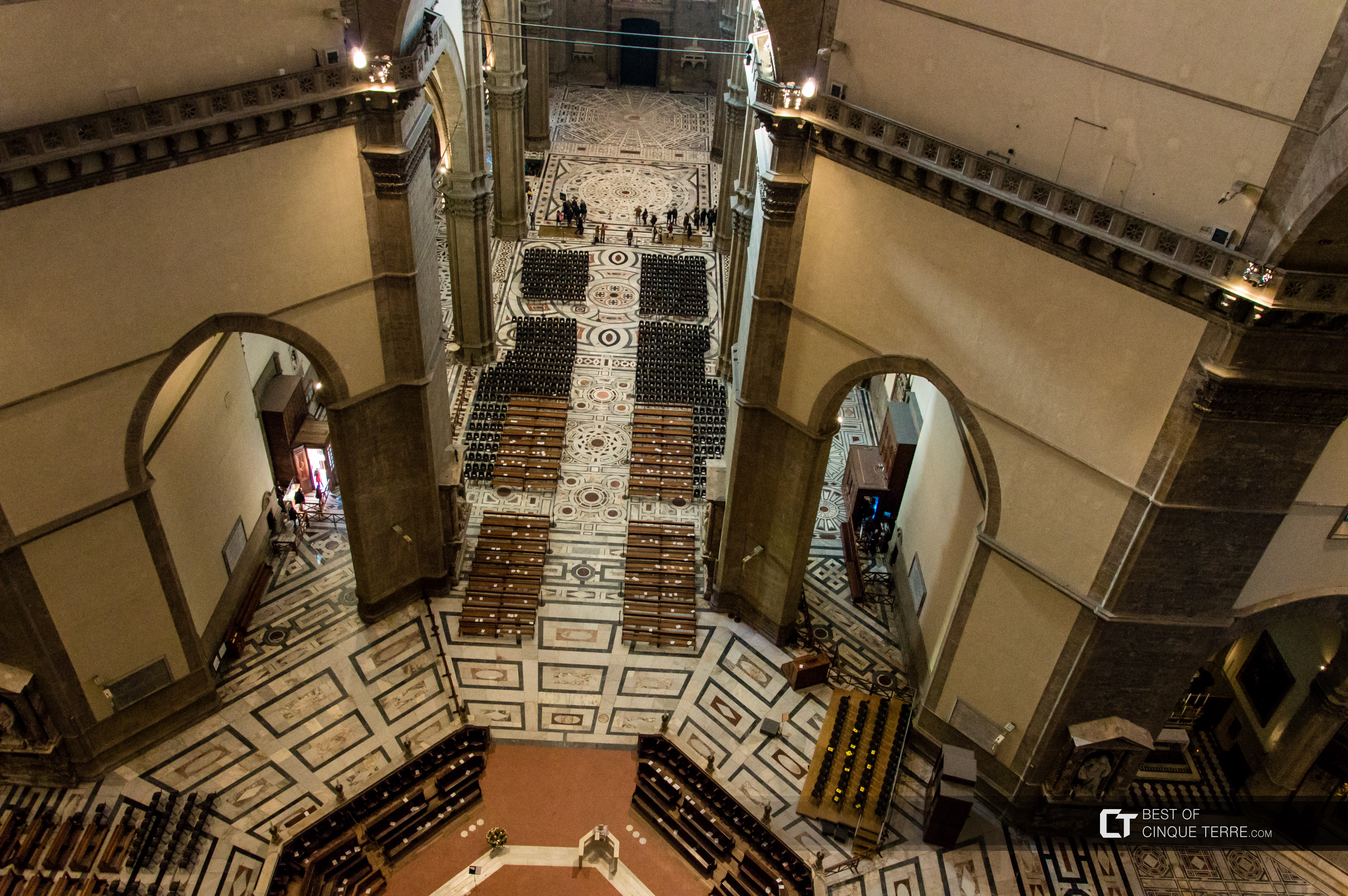 Inside the Cathedral of Santa Maria del Fiore - the stairs to the dome, Florence, Italy