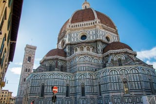 The dome of the Cathedral of Santa Maria del Fiore and Giotto's Bell tower, Florence, Italy