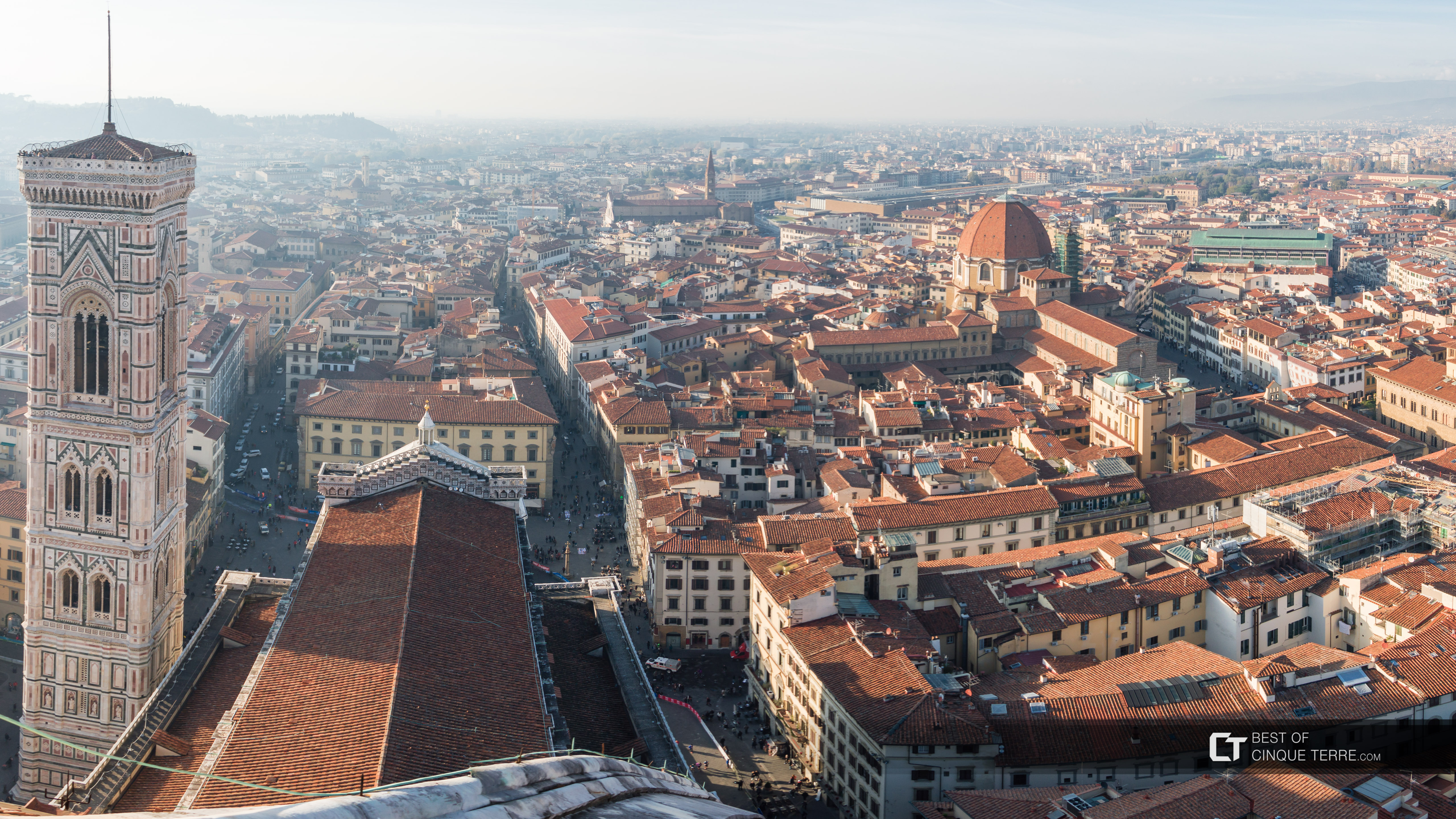 View from the dome of the Cathedral of Santa Maria del Fiore, Florence, Italy