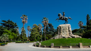 Giuseppe Garibaldi Monument in the park near the waterfront, La Spezia, Italy
