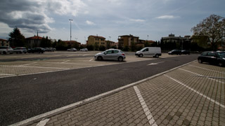 Parking at the Palasport, La Spezia, Italy