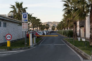Mirabello parking area at the port, La Spezia, Italy