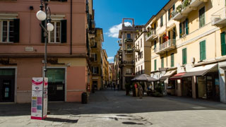 Street in the town center, La Spezia, Italy