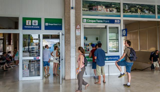 The tourist office at the station, Levanto, Italy