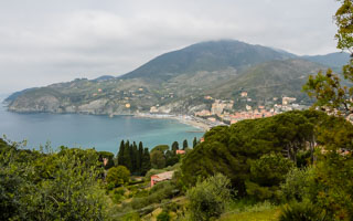 The view from the trail to Monterosso al Mare, Levanto, Italy