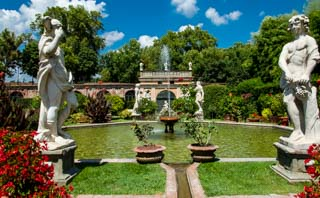 Garden of Palazzo Pfanner, Lucca, Italy
