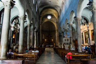 Inside the Church of San Michele in Foro, Lucca, Italy