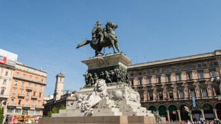 The statue of King Victor Emmanuel II, Milan, Italy