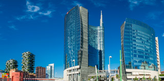 Unicredit Tower, the most tallest skyscraper in Italy, Milan, Italy