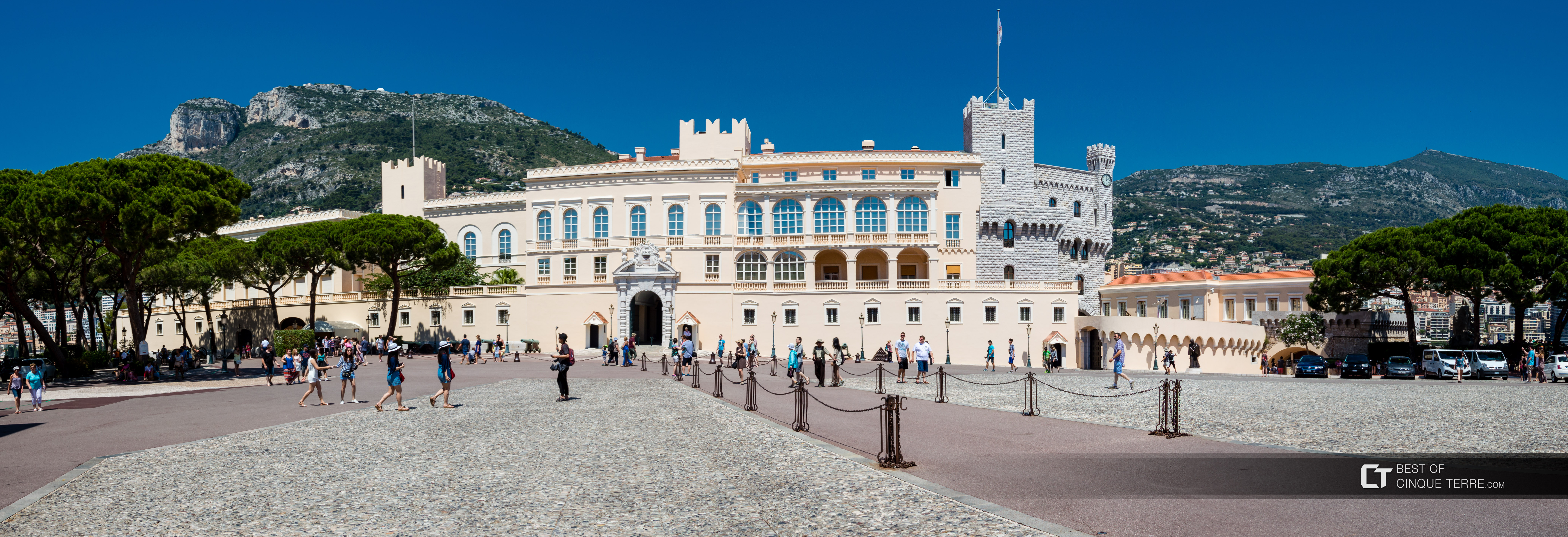 Palace of the Princes of Monaco and the square