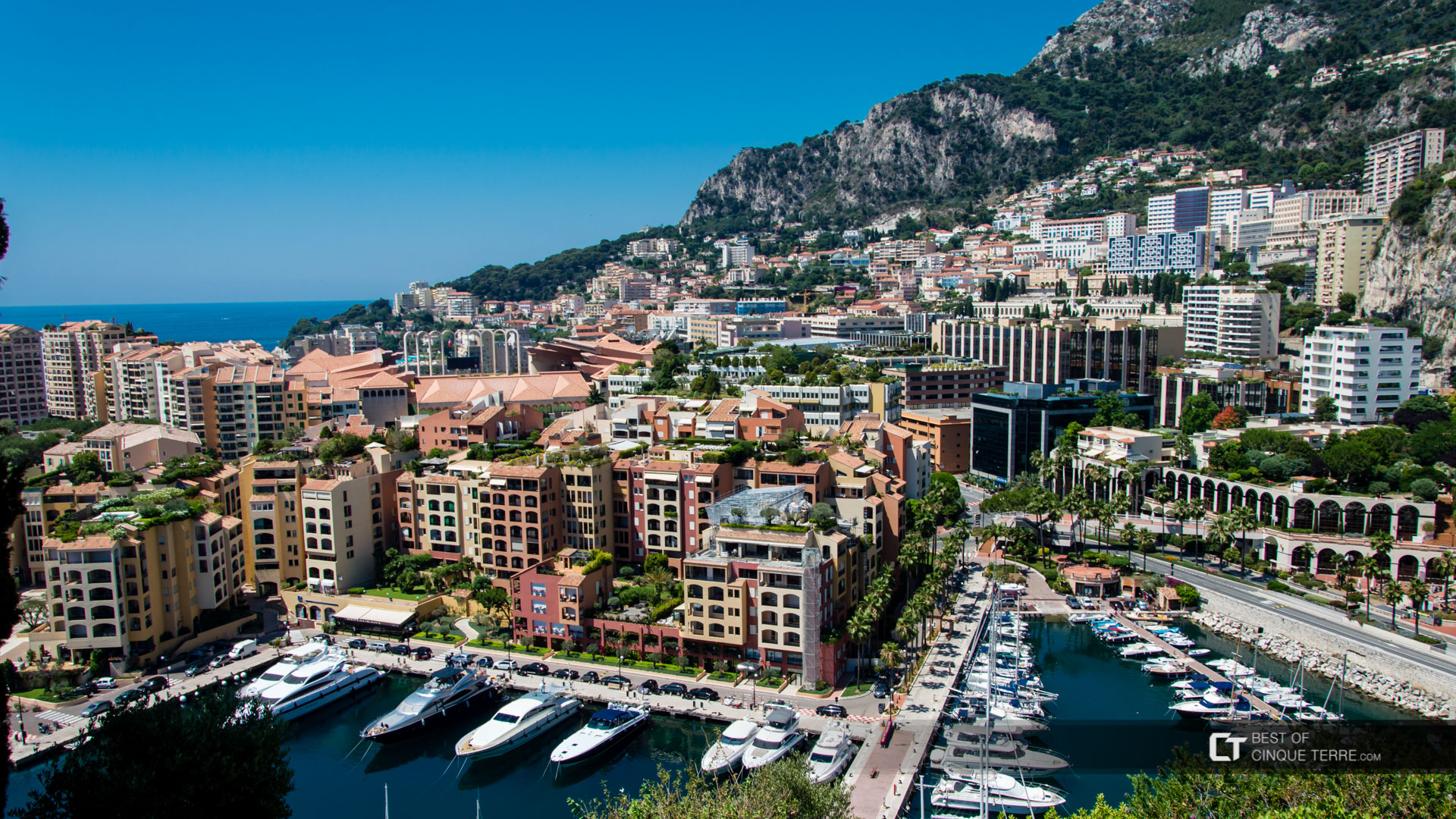 Monaco View Of Monte Carlo Harbor From The Prince S