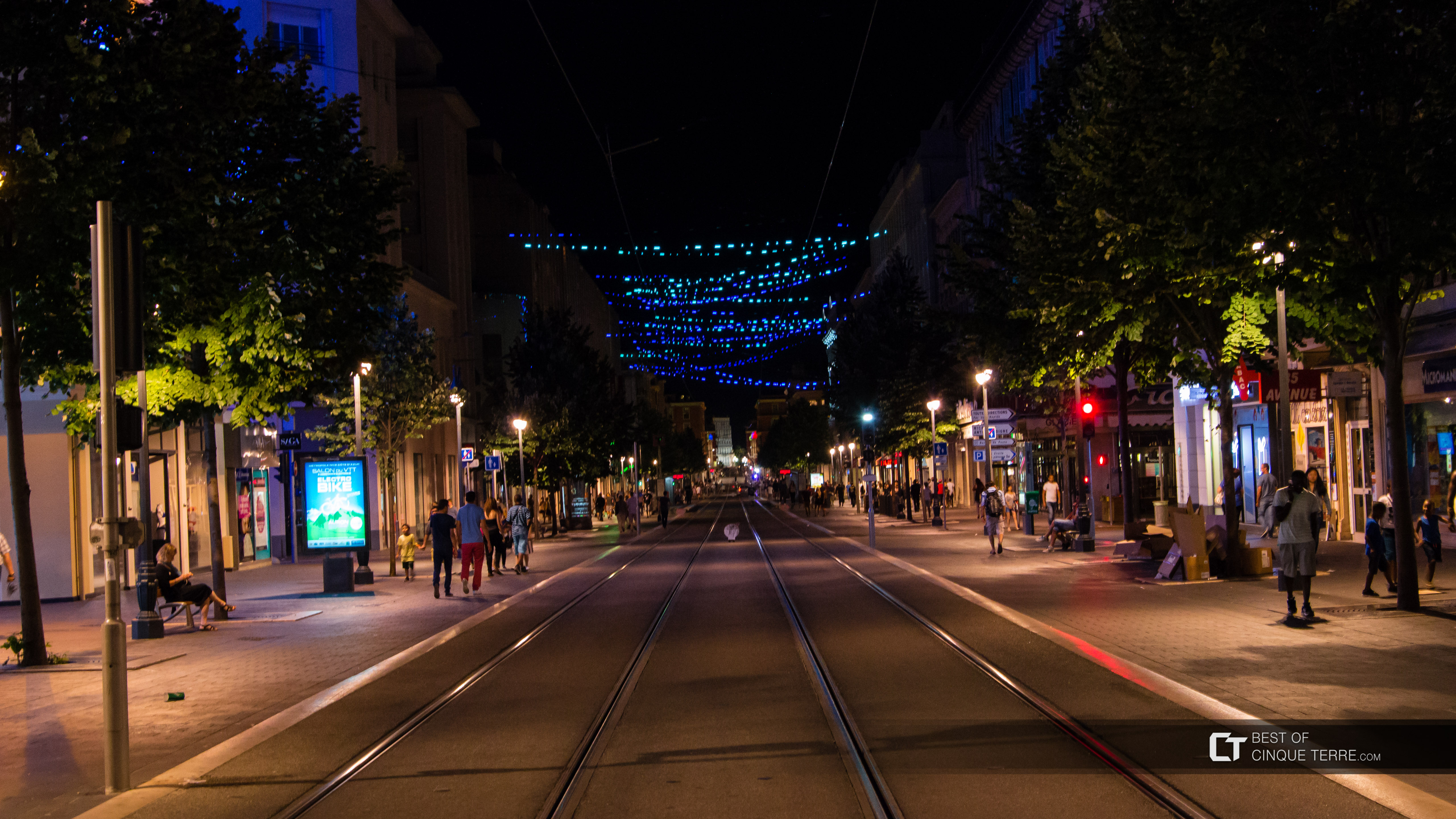 Avenue Jean Médecin by night, Nice, France