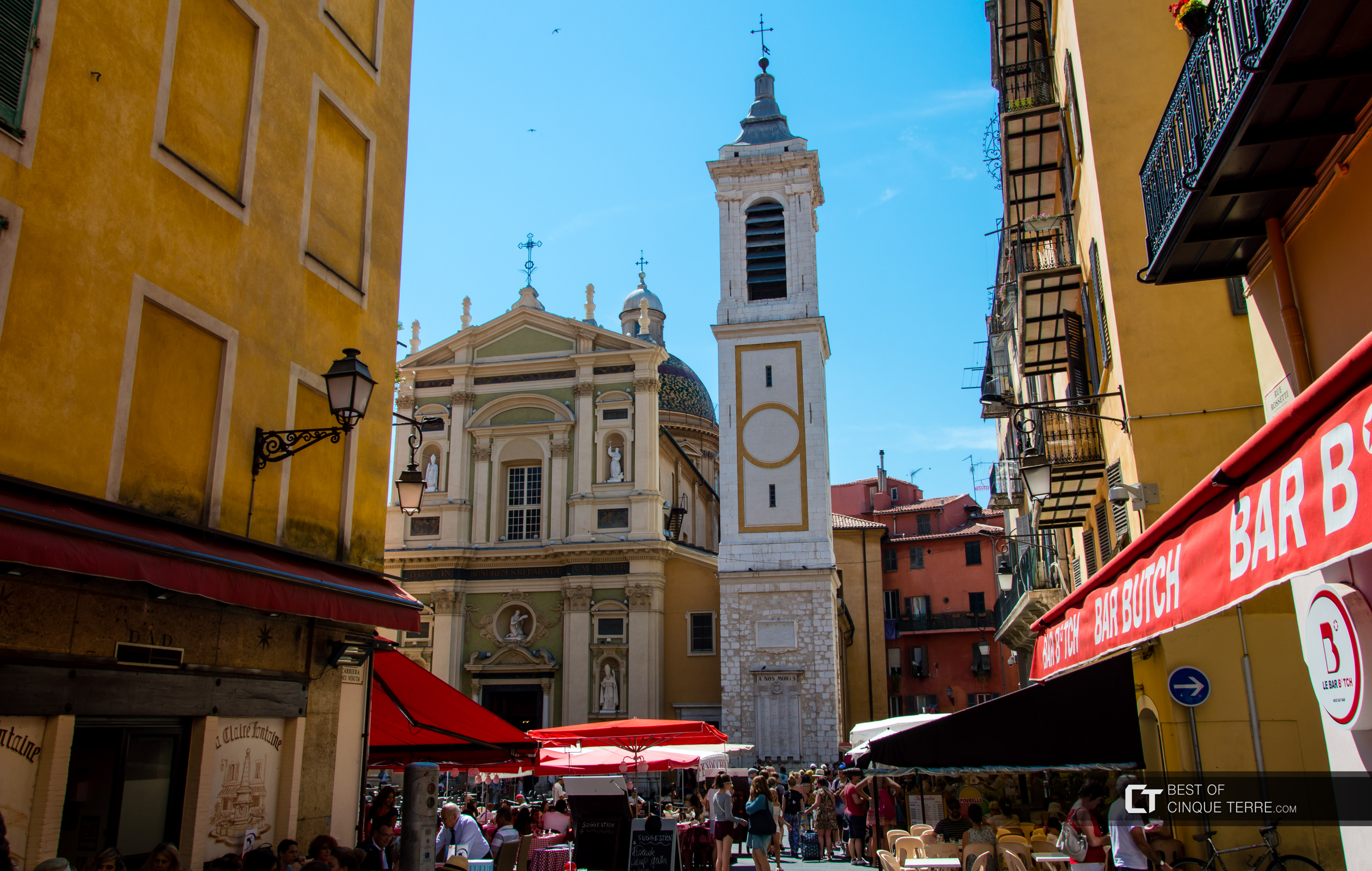 Cathedral and Piazza Rossetti, Nice, France