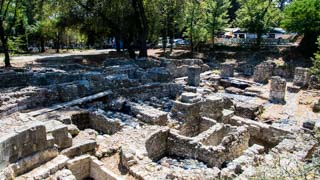 Excavations in the Castle grounds, Nice, France