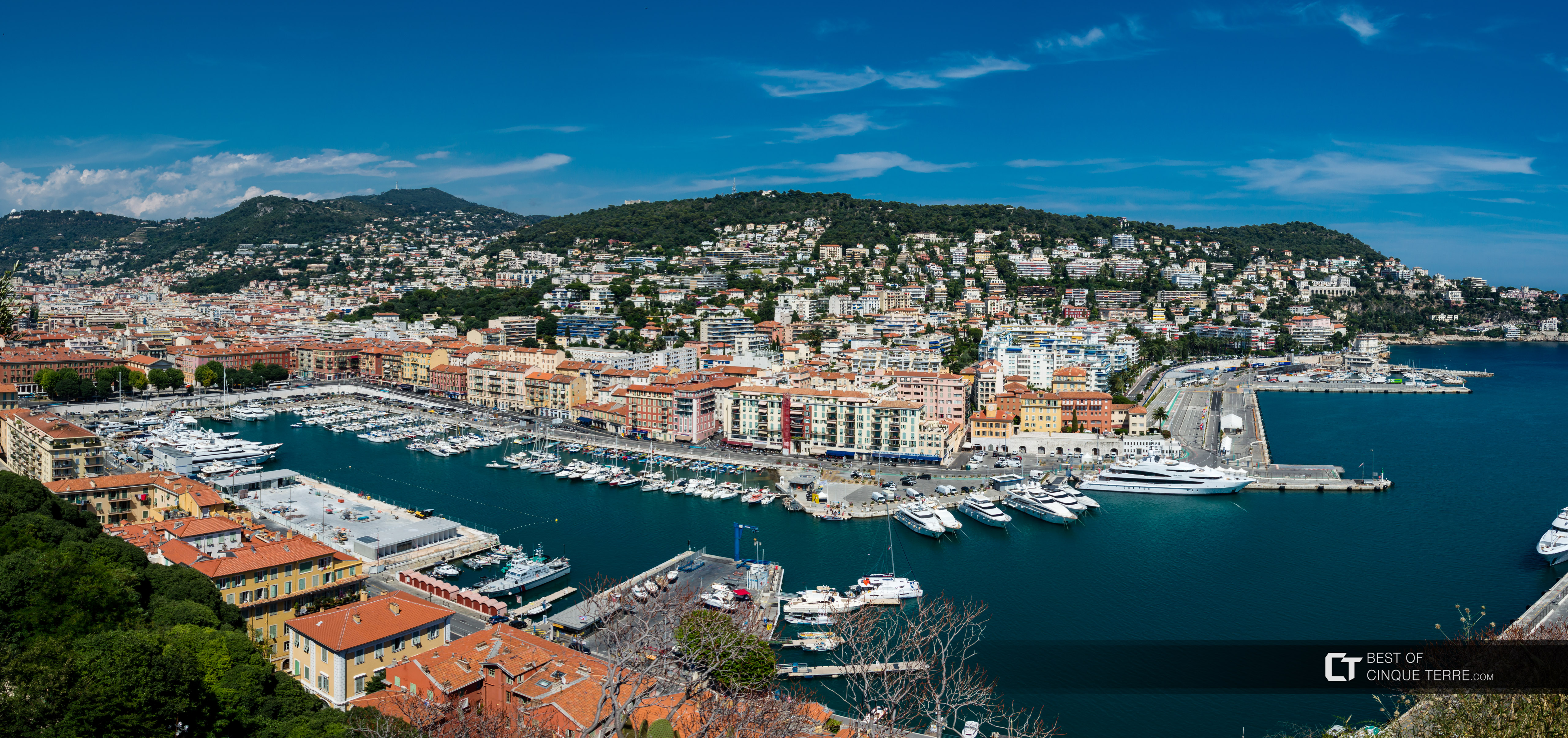 Port Lympia from the Castle Hill viewpoint, Nice, France