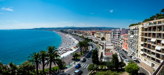 Promenade des Anglais from the Castle Hill viewpoint, Nice, France