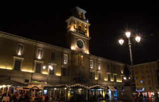 Central Garibaldi Square in the evening, Parma, Italy