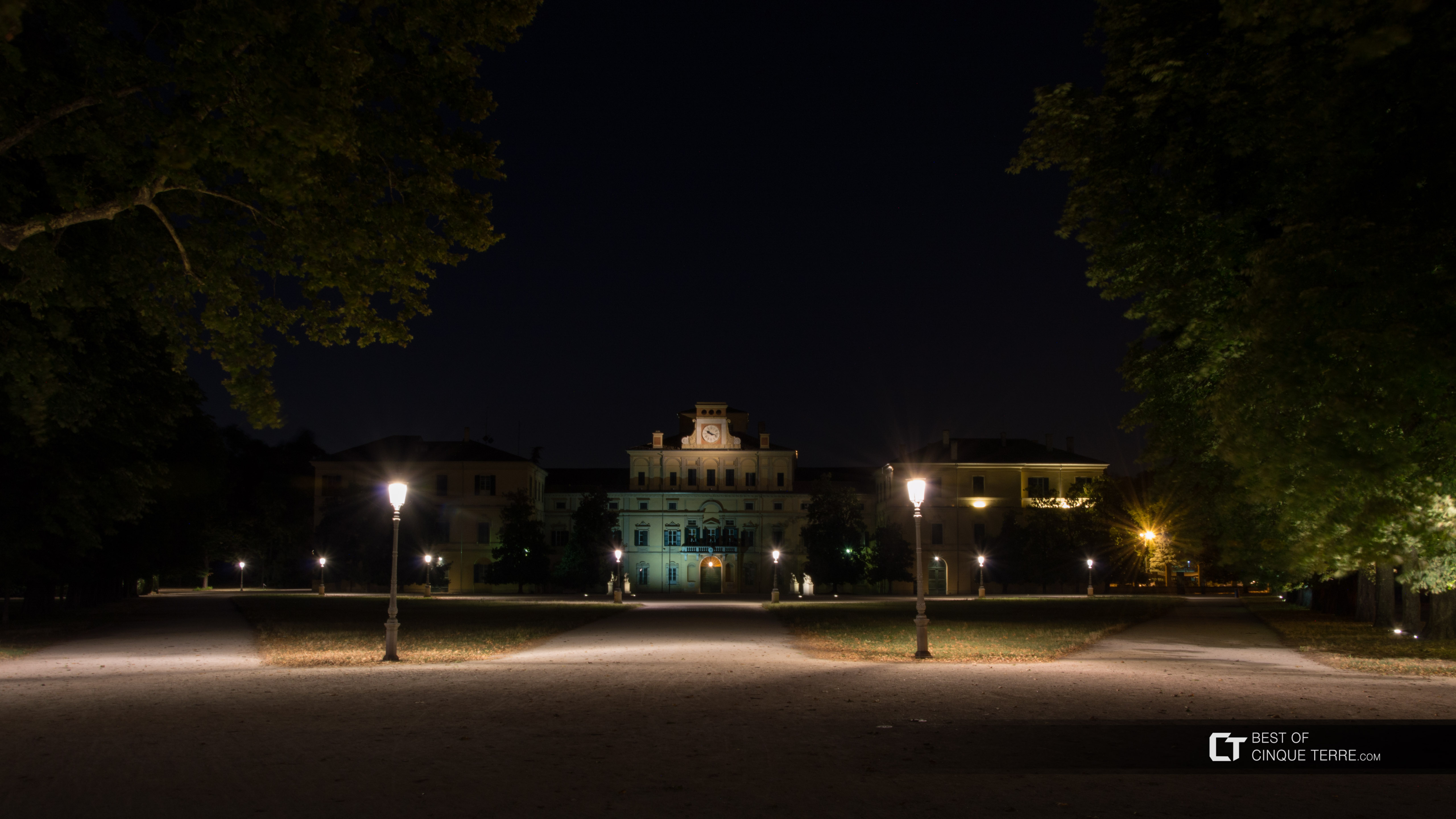 Ducal Palace in the Ducal Park by night, Parma, Italy