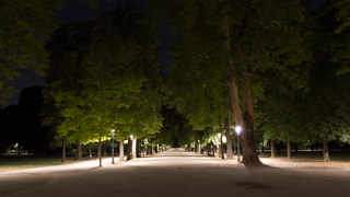 Ducale Park by night, Parma, Italy