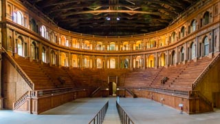 Das Theater Farnese in der Nationalgalerie, Parma, Italien