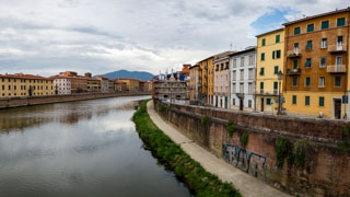 Church of Saint Maria della Spina and the Arno river, Pisa, Italy