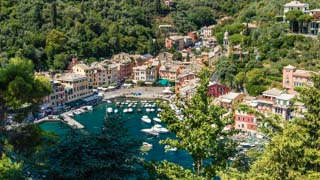 View from Brown Castle, Portofino, Italy