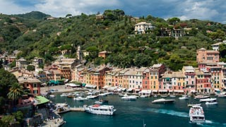 The view from the Church of San Giorgio, Portofino, Italy