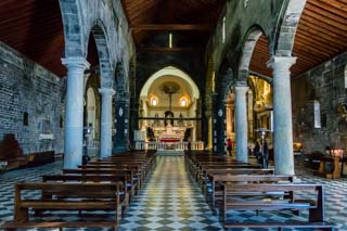 Inside the church of Saint Peter, Portovenere, Italy