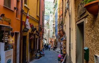 The main street, Portovenere, Italy