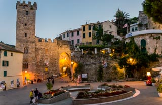 The Village Gate in the evening, Portovenere, Italy